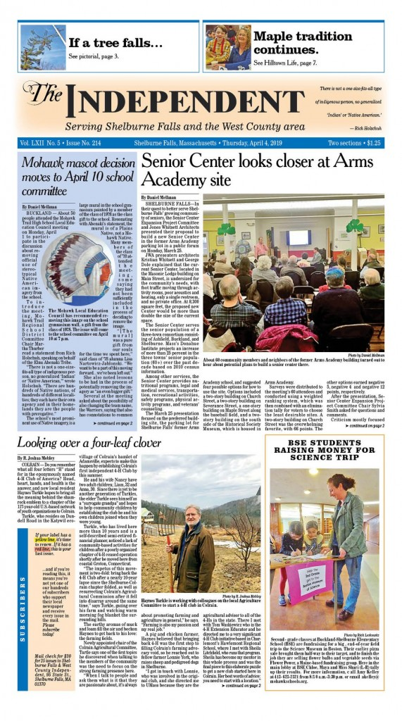 Shelburne Falls Independent and West County News April 4, 2019
